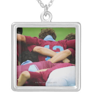 Crouch, Touch, Engage Square Pendant Necklace