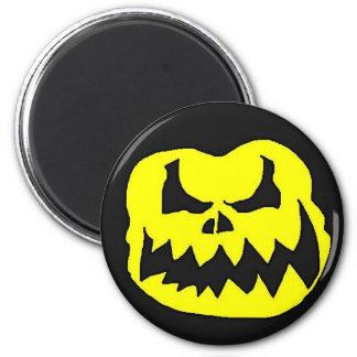 Crow head yellow 6 cm round magnet