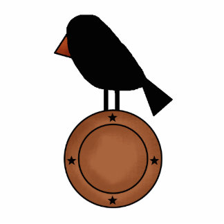 crow on plate Sculpture Standing Photo Sculpture