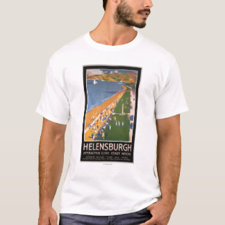 Crowds along Clyde Coast Beach Railways Poster T-Shirt
