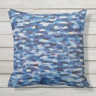 Crowds of Blue Throw Pillow