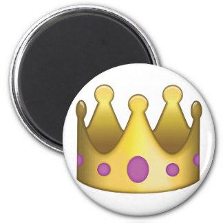 Crown emoji 6 cm round magnet