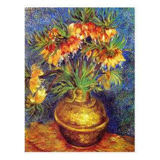 Crown Imperial Fritillaries in a Copper Vase Postcard