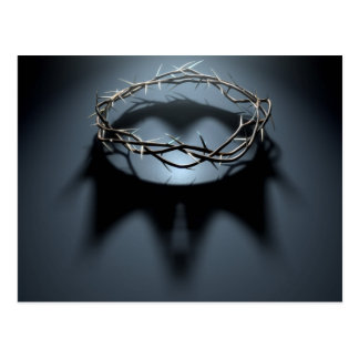 Crown Of Thorns With Royal Crown Shadow Postcard