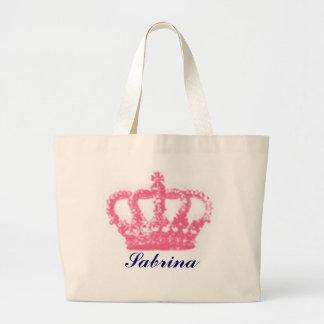 crown, Sabrina Large Tote Bag