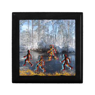 CRPS RSD FIre & Ice FIgures on Frozen NC Landcape Gift Box