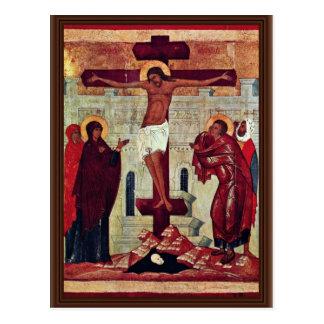 Crucifixion By Meister Der Schule Von Nowgorod (Be Postcard