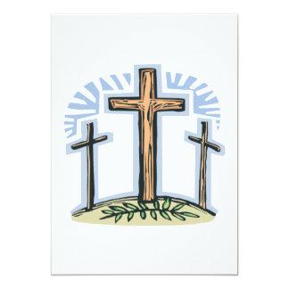 Crucifixion 13 Cm X 18 Cm Invitation Card