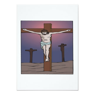 Crucifixion 5x7 Paper Invitation Card