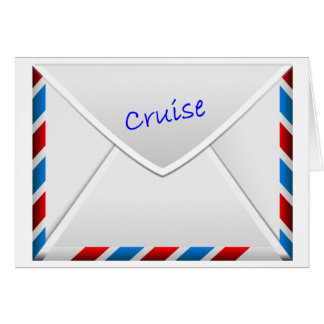 Cruise Envelope Greeting Card