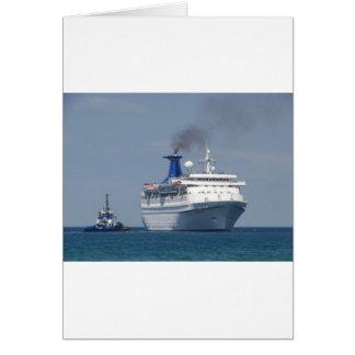 Cruise Ship Aquamarine Card