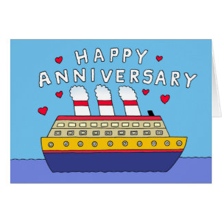 Cruise Ship Wedding Anniversary Card