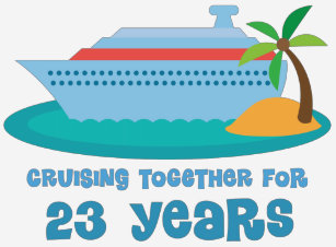 Cruising Together For 23 Years Anniversary Gift T Shirt