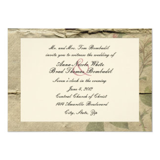 "Crumpled Vintage Paper Wedding Invitation 5"" X 7"" Invitation Card"