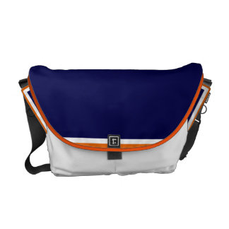 Crushing Blue and Orange Messenger Bags