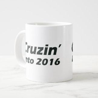 Cruzin' into 2016 - Black and White Large Coffee Mug