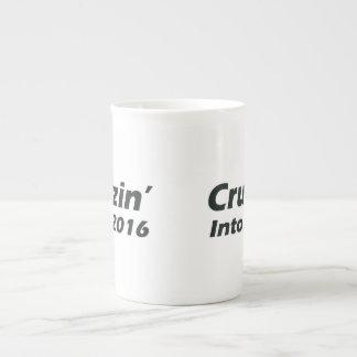 Cruzin' into 2016 - Black and White Tea Cup
