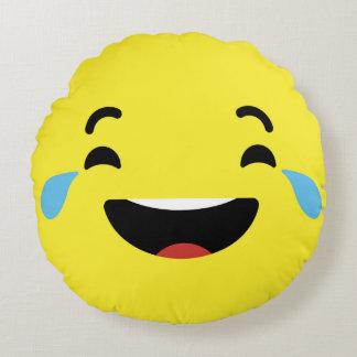 Cry Laughing Emoji / Smiley Round Cushion