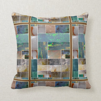 CRYSTAL Marble Artistic Collage : HealingSTONES Cushion