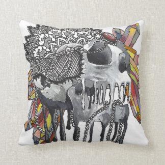 Crystal Skull Mandala Cushion