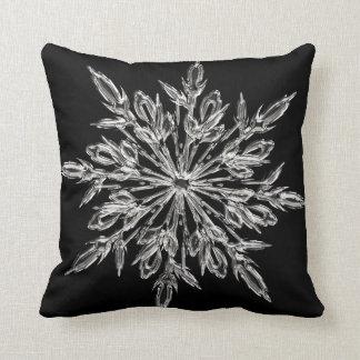 Crystal Snowflake Christmas  throw pillow