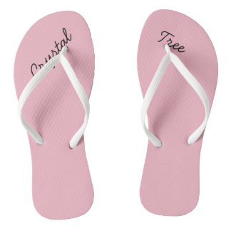 Crystal Tree Pink Womens Flip Flops
