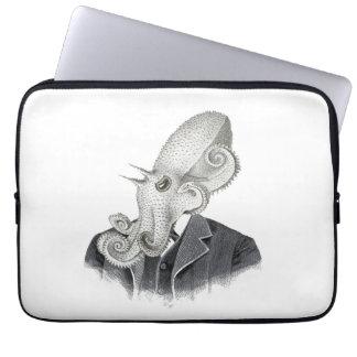 Cthulhu Gentleman Vintage Illustration Laptop Case