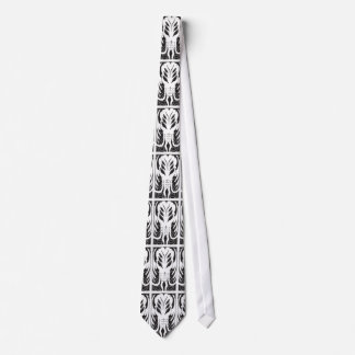 Cthulhu pattern tie (white on black)