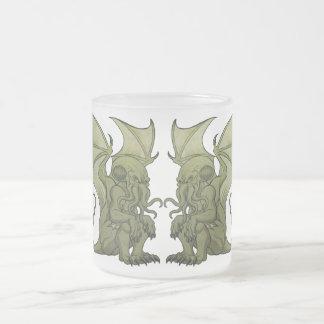Cthulhu Twins Frosted Glass Coffee Mug