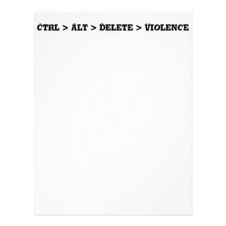 Ctrl > Alt > Delete > Violence - Anti Bully 21.5 Cm X 28 Cm Flyer