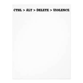 Ctrl > Alt > Delete > Violence - Anti Bully Full Color Flyer