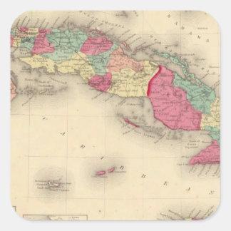 Cuba, Jamaica, and Porto Rico Square Sticker