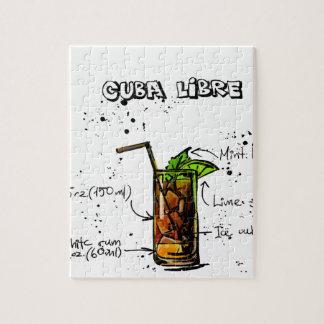 Cuba Libre Cocktail Jigsaw Puzzle