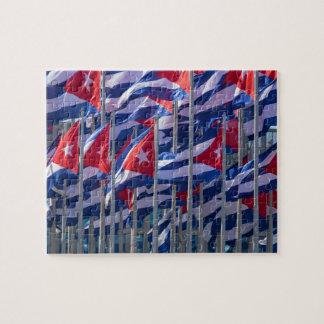 Cuban flags, Havana, Cuba Jigsaw Puzzle