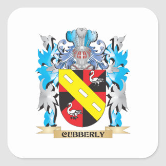 Cubberly Coat of Arms - Family Crest Square Sticker