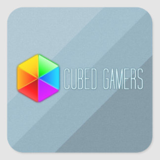 Cubed Gamers Square Stickers