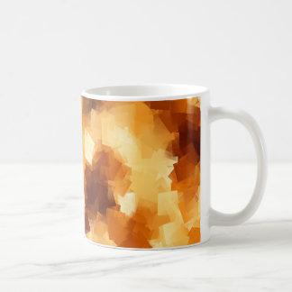 Cubist Fire Abstract Pattern Coffee Mug