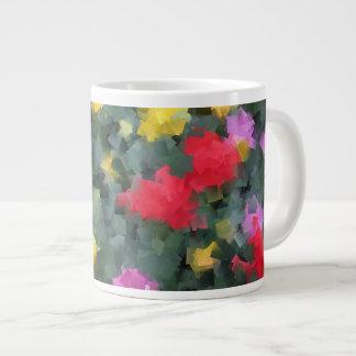 Cubist Flowers Large Coffee Mug