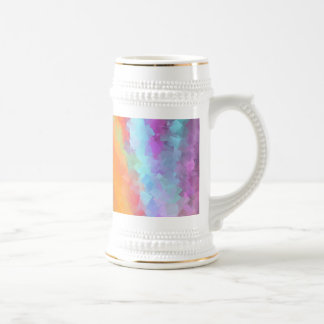 Cubist rainbow Fractal Beer Stein