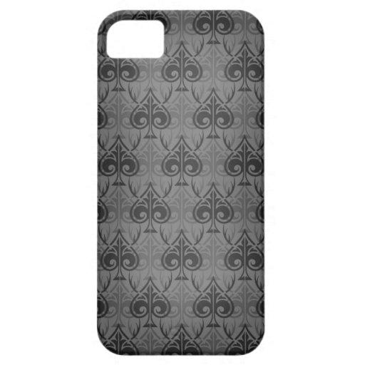 Cuckold-Cuckoldress-Hotwife damask pattern - Black iPhone 5 Cover