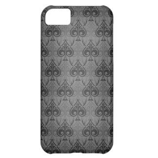 Cuckold-Cuckoldress-Hotwife damask pattern - Black iPhone 5C Case