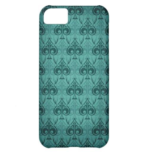 Cuckold-Cuckoldress-Hotwife damask pattern - Green iPhone 5C Cases