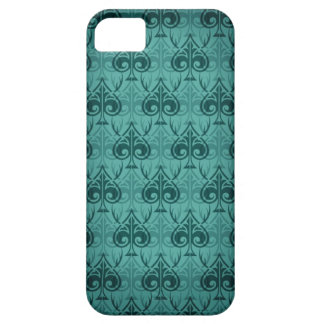 Cuckold-Cuckoldress-Hotwife damask pattern - Green iPhone 5 Cover