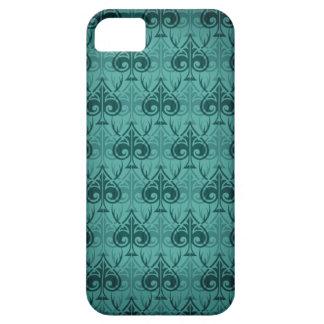 Cuckold-Cuckoldress-Hotwife damask pattern - Green iPhone 5 Cover
