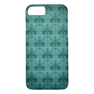 Cuckold-Cuckoldress-Hotwife damask pattern - Green iPhone 7 Case