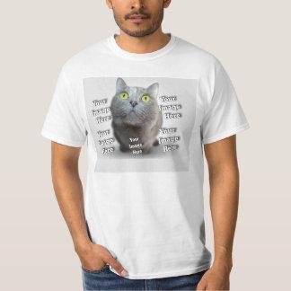 Cuddle Conforting Custom Pet Photo Template T-Shirt