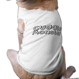 Cuddle Monster dog t-shirt