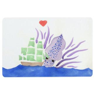 Cuddles the Kraken Floor Mat