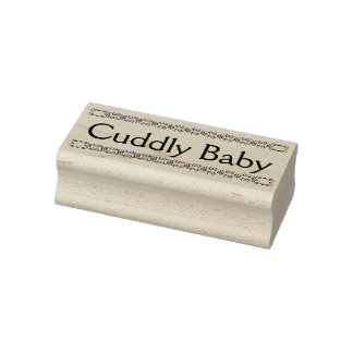Cuddly baby rubber stamp, new baby stamp