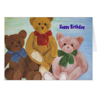 """""""Cuddly Friends"""", Happy Birthday Card"""